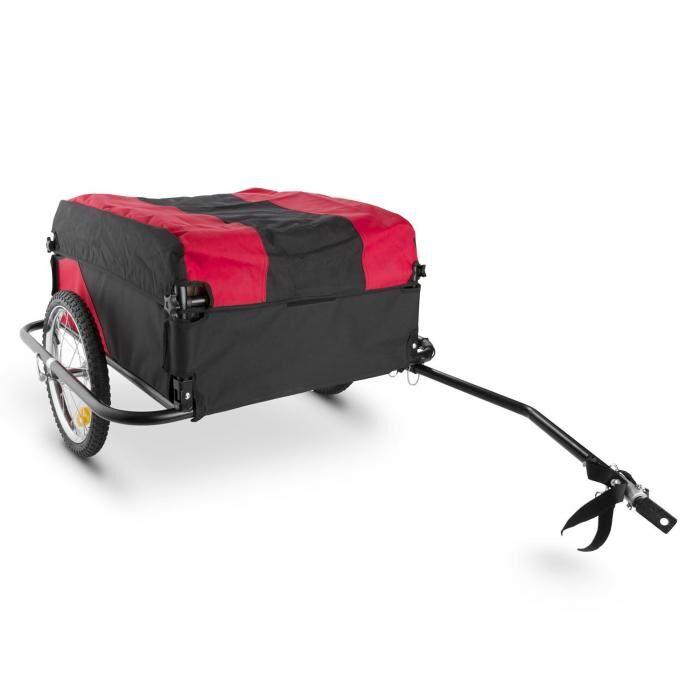 DURAMAXX Mountee Rimorchio Per Biciclette 130 l 60 kg Nero-Rosso