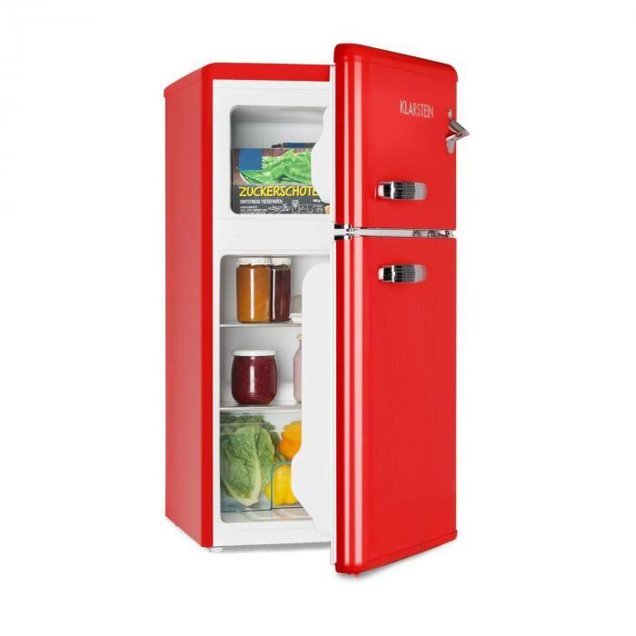 Klarstein Irene Combinazione Frigo da 61 l e Freezer da 24 l rosso