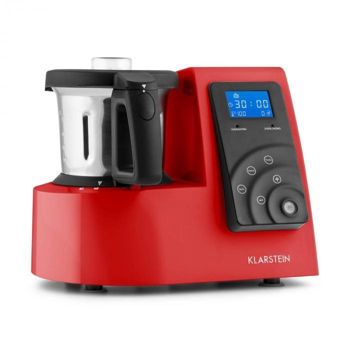 klarstein kitchen hero 9-in-1 robot da cucina 2l 600/1300w rosso