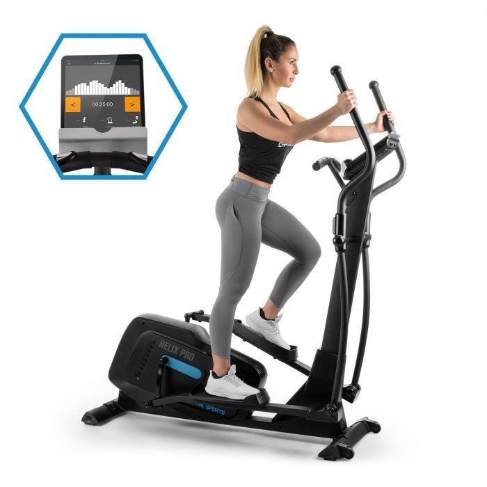 Capital Sports Helix Pro Cross Trainer Bluetooth App 20 kg di Massa Volano