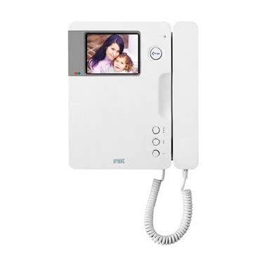 urmet signo, videocitofono 4' 50hz predisposto per audiolesi, colore bianco
