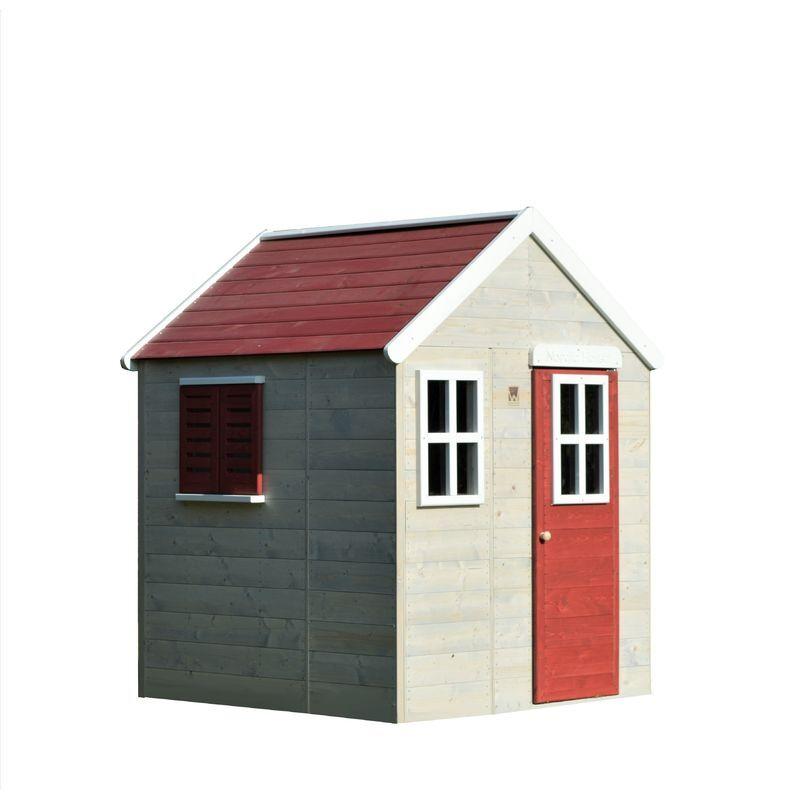 wendi toys casetta da giardino bambini estate lodge casa -rosso - wendi toys