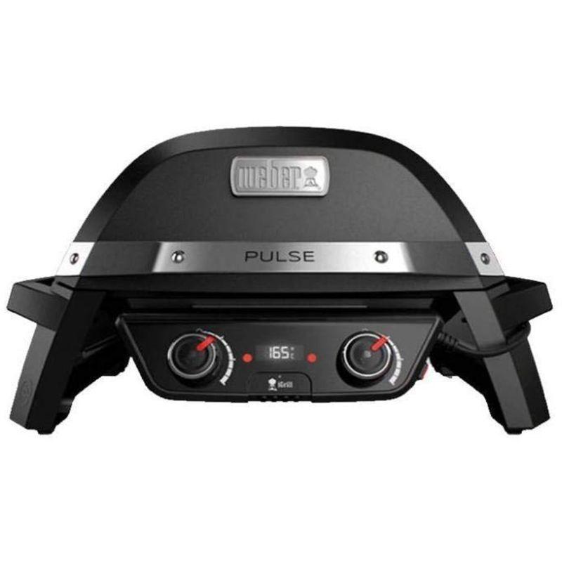 weber barbecue elettrico pulse 2000 nero doppia zona cottura 2200w bbq - weber