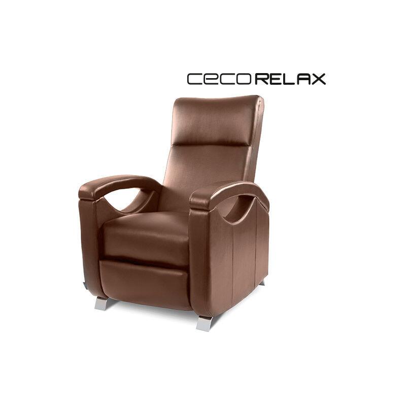 cecotec poltrona relax massaggiante push back marrone cecotec 6027