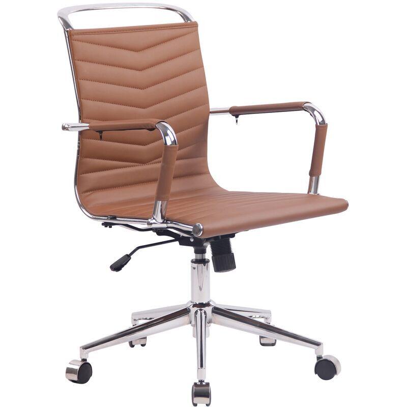 clp sedia ufficio ergonomica burnley marrone similpelle - clp