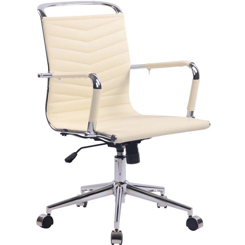 clp - sedia ufficio ergonomica burnley crema similpelle
