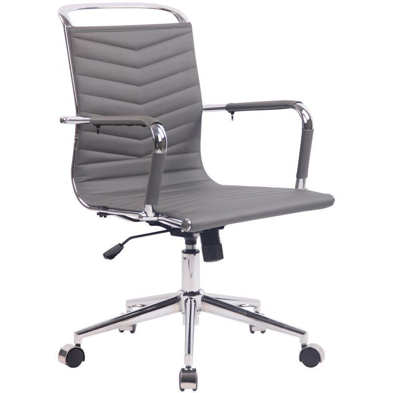 clp - sedia ufficio ergonomica burnley grigio similpelle