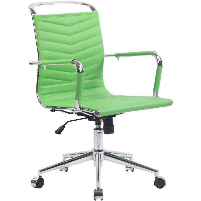 clp - sedia ufficio ergonomica burnley verde similpelle