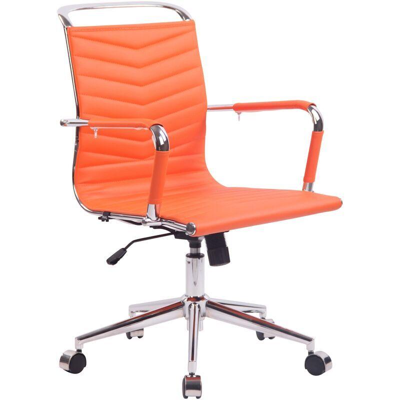 clp - sedia ufficio ergonomica burnley arancione similpelle
