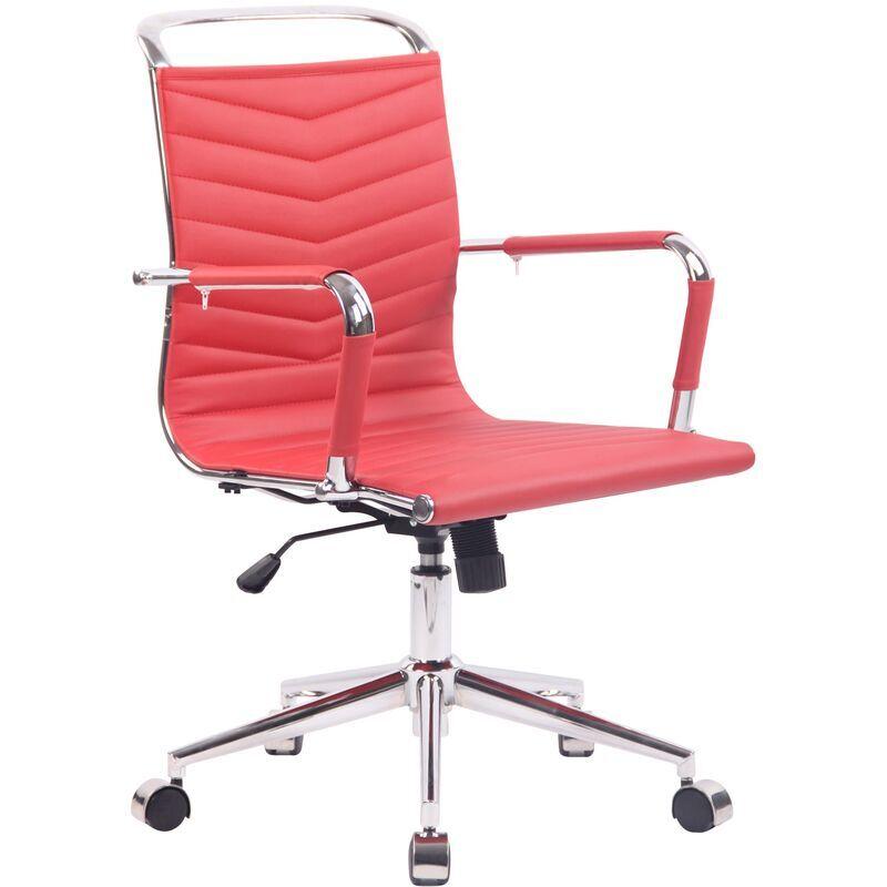 clp sedia ufficio ergonomica burnley rosso similpelle - clp