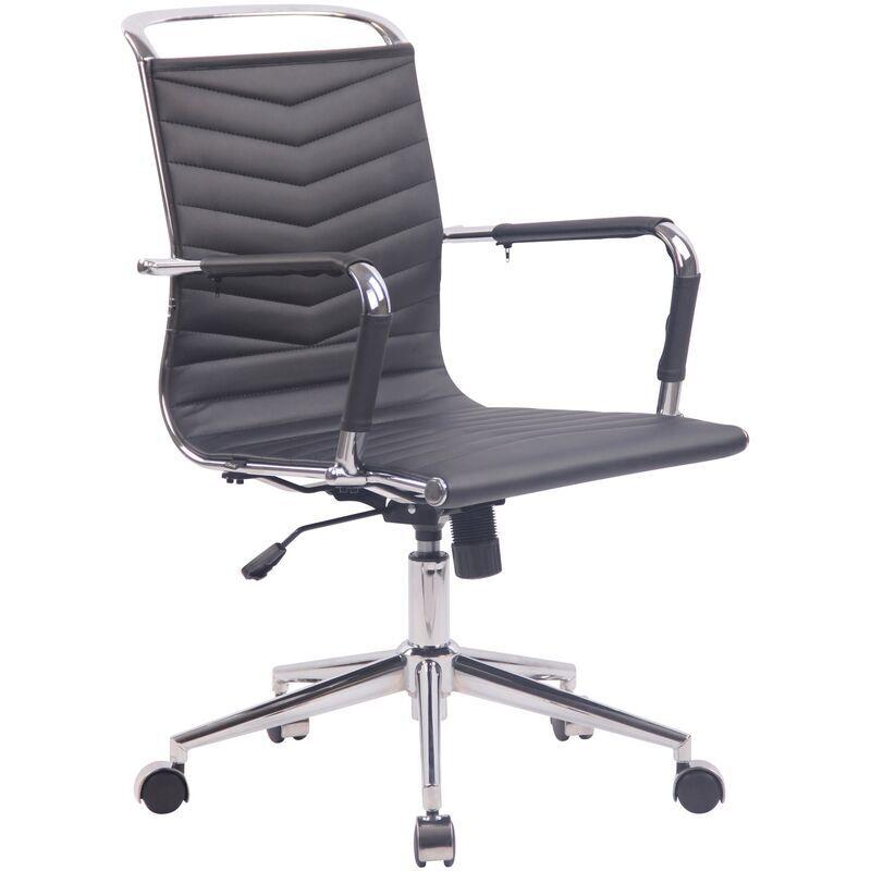 clp - sedia ufficio ergonomica burnley nero similpelle