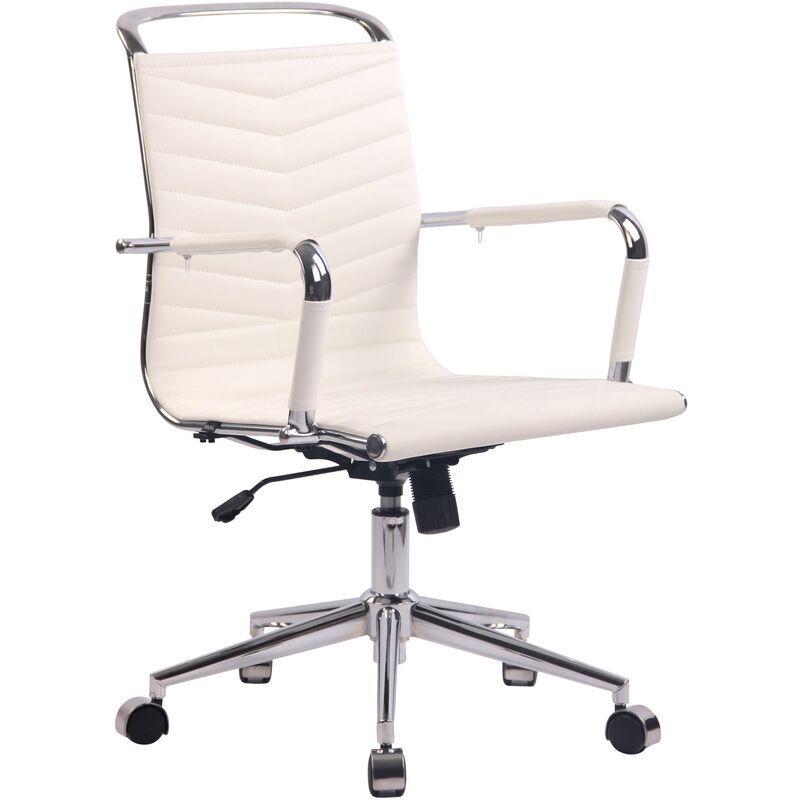 clp - sedia ufficio ergonomica burnley bianco similpelle