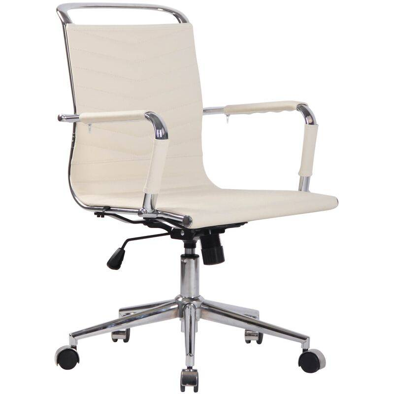 clp - sedia ufficio ergonomica burnley crema vera pelle