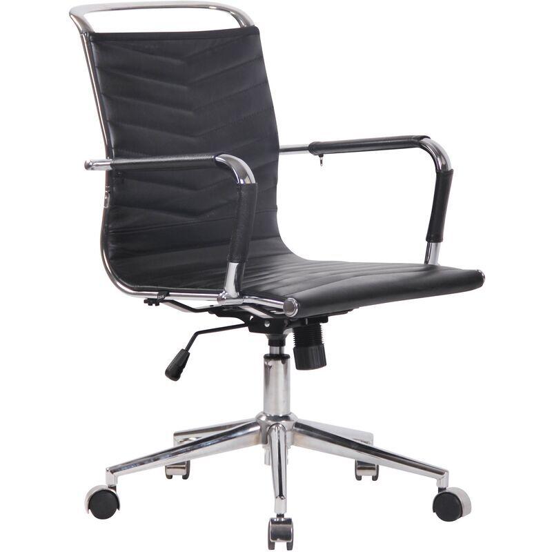 clp - sedia ufficio ergonomica burnley nero vera pelle