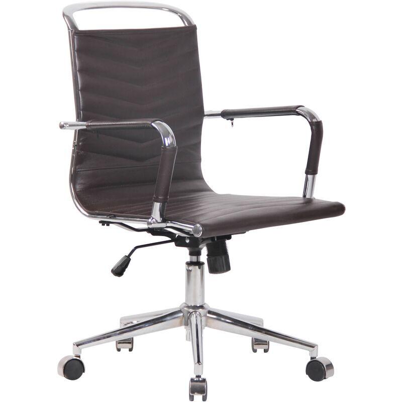 clp - sedia ufficio ergonomica burnley marrone vera pelle