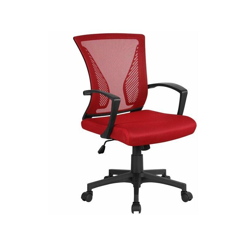 yaheetech sedia da scrivania ufficio ergonomica lombare in rete