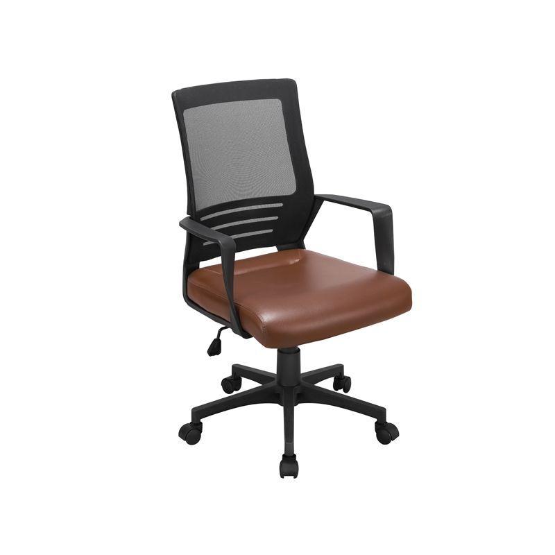 yaheetech sedia ufficio scrivania ergonomica lombare girevole in rete