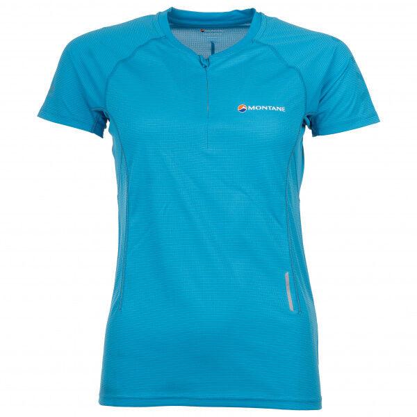 Montane Women's Snap Zip T-Shirt Maglia da corsa (36, blu/turchese)