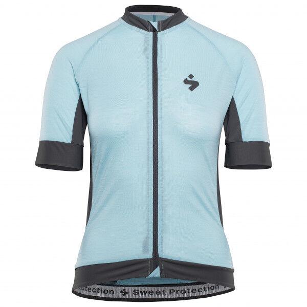 Sweet Women's Crossfire Merino S/S Jersey W Maglietta da ciclismo (XS, grigio/nero)