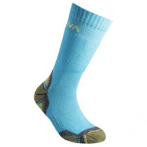La Sportiva Kid`s Mountain Socks Calze da trekking (XL, turchese/blu)