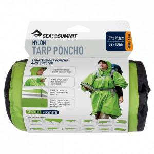 Sea to Summit Nylon Tarp Poncho Sacco da bivacco (One Size, grigio/verde)