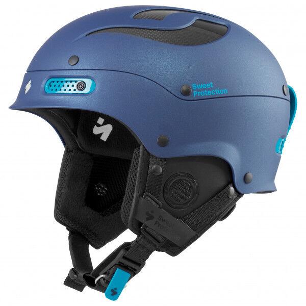 Sweet Women's Trooper II Helmet Casco da sci (M/L;S/M, blu/nero)