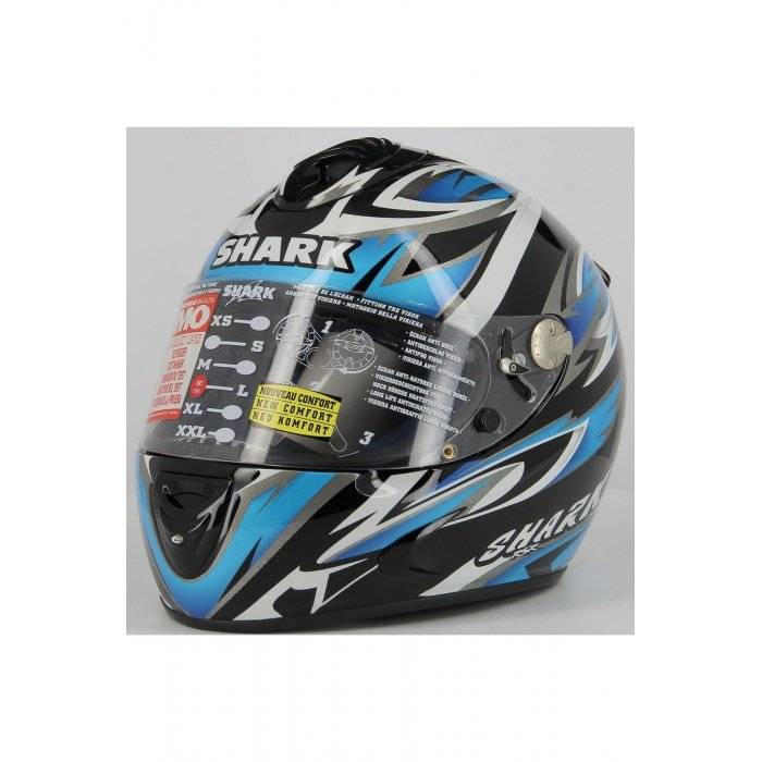SHARK Casco Integrale  Rsr Replica Replica Barros Blu