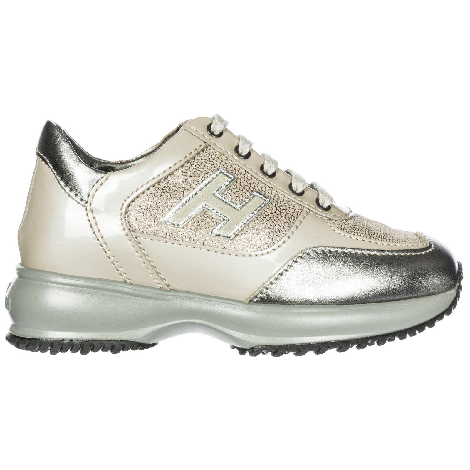 Hogan Scarpe sneakers bambina pelle interactive