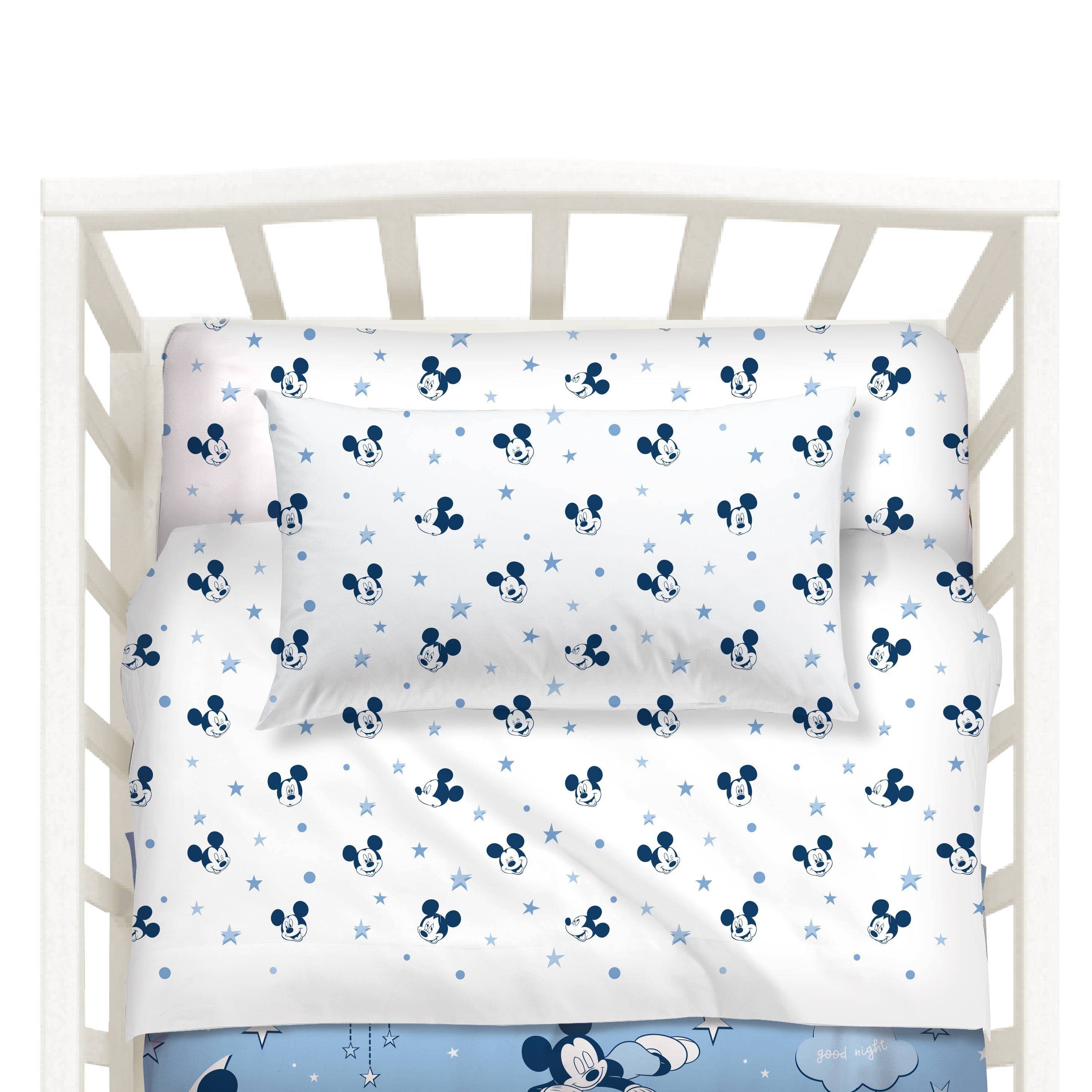disney lenzuola mickey notte di stell baby unica in cotone caleffi