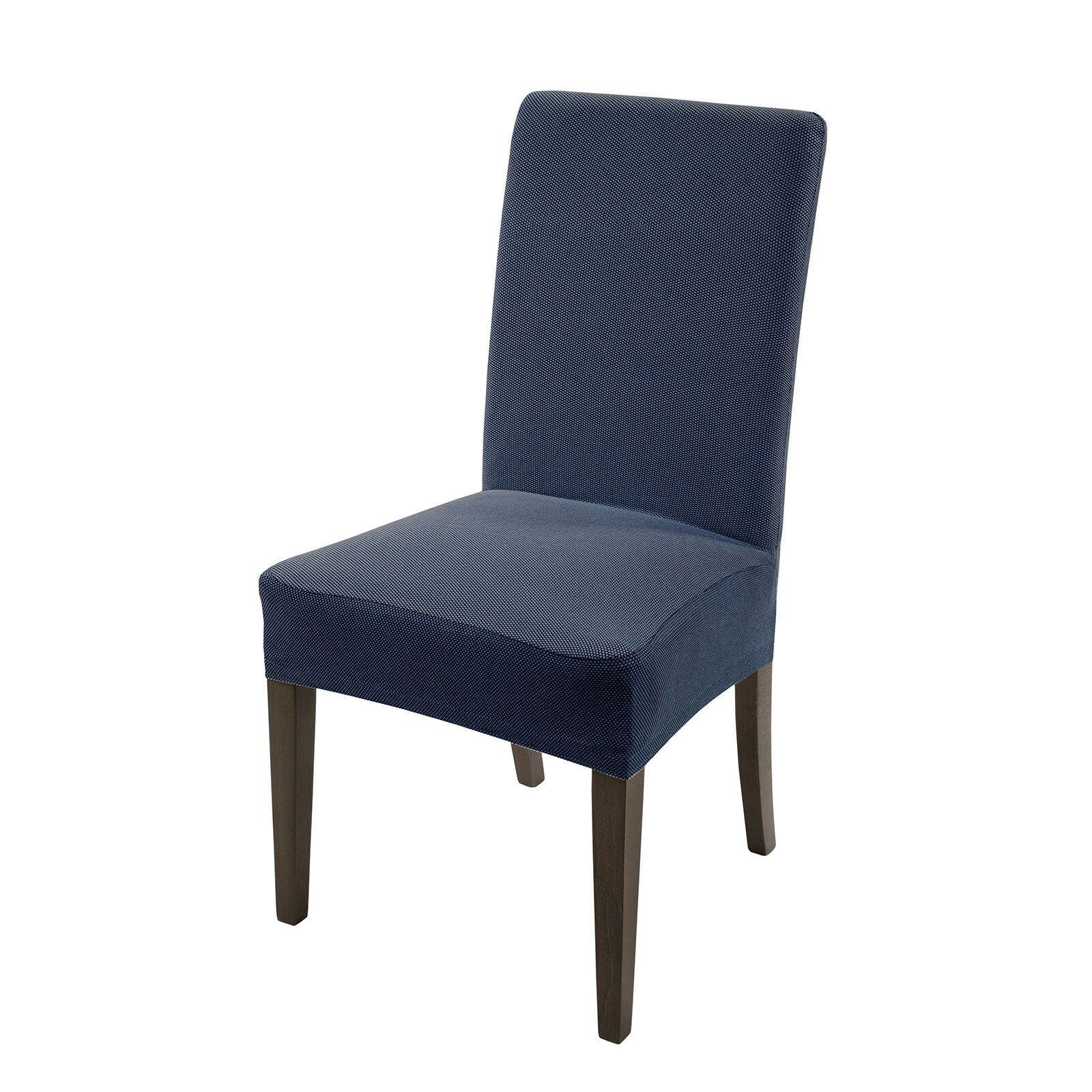 Caleffi Coprisedia Universale Melange 1 Posti Blu per sedie cucina e salotto