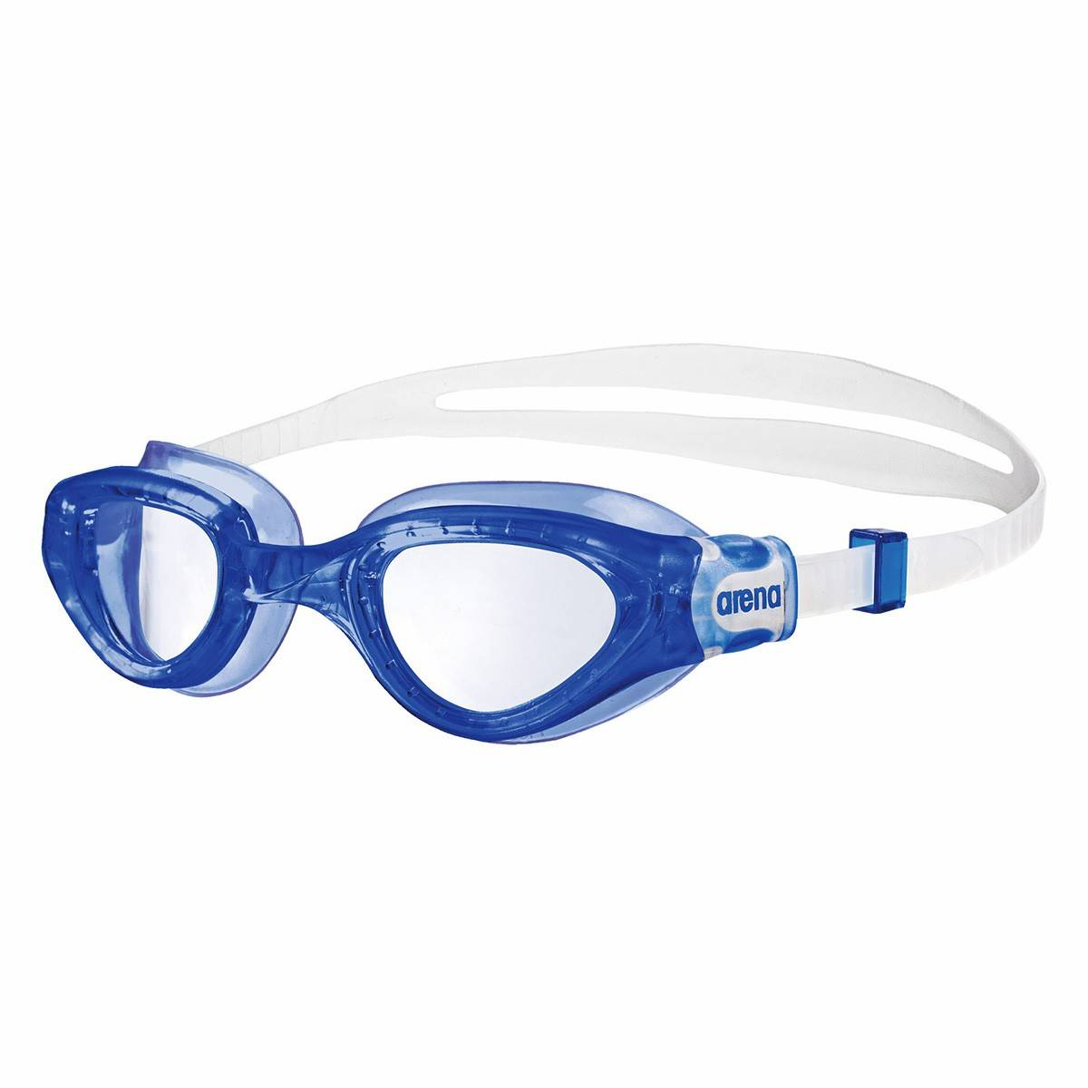 Arena Occhialini piscina Arena Cruiser Soft blu (Colore: blu-bianco, Taglia: UNI)
