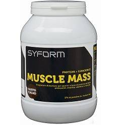 new syform srl muscle mass cacao 1200 g
