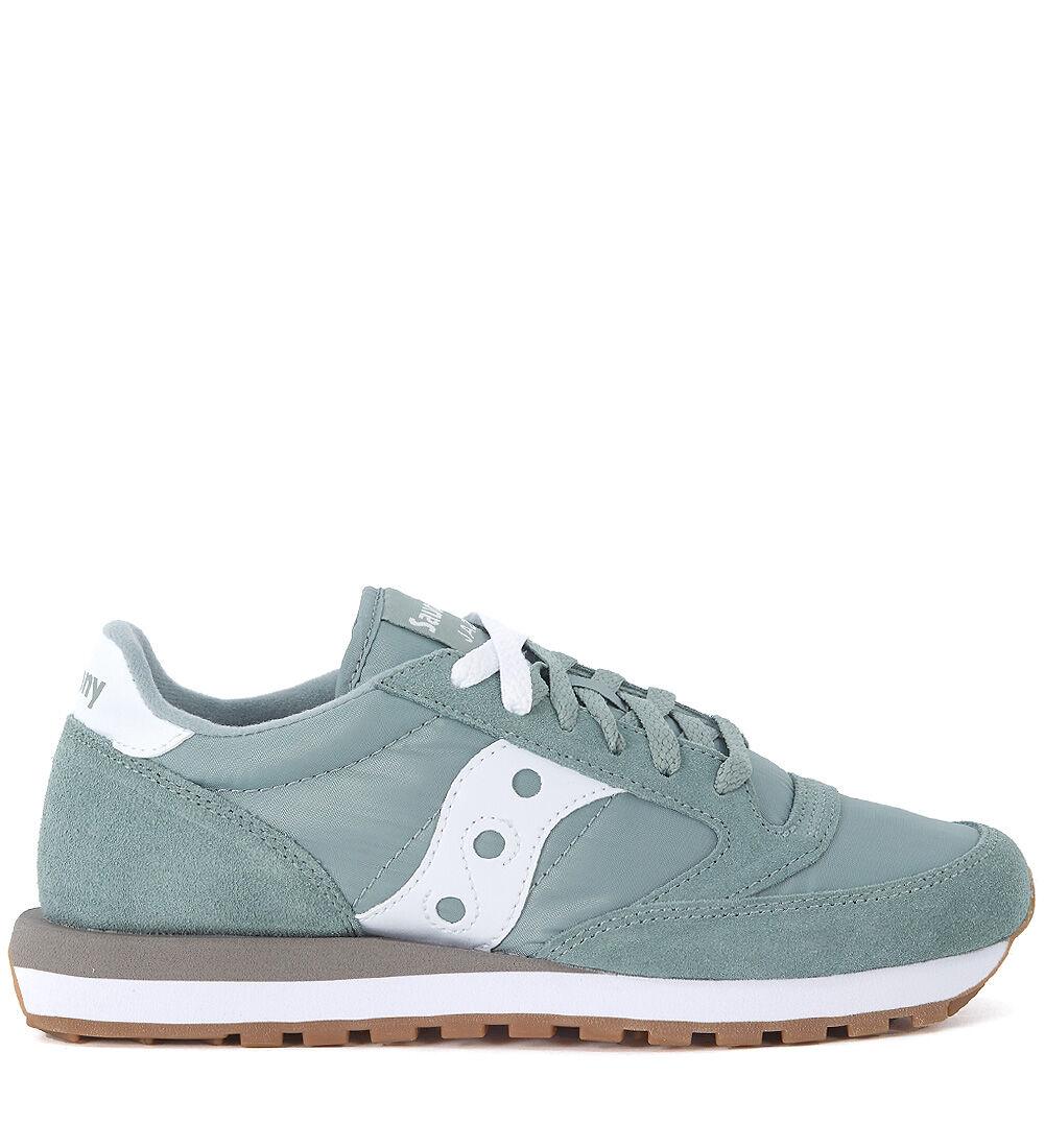 Saucony Sneaker Saucony Jazz in suede e nylon verde e bianca