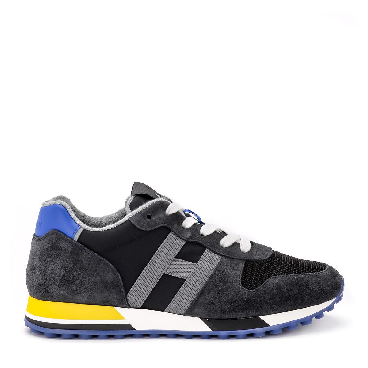 Hogan Sneaker Hogan H383 in suede nera