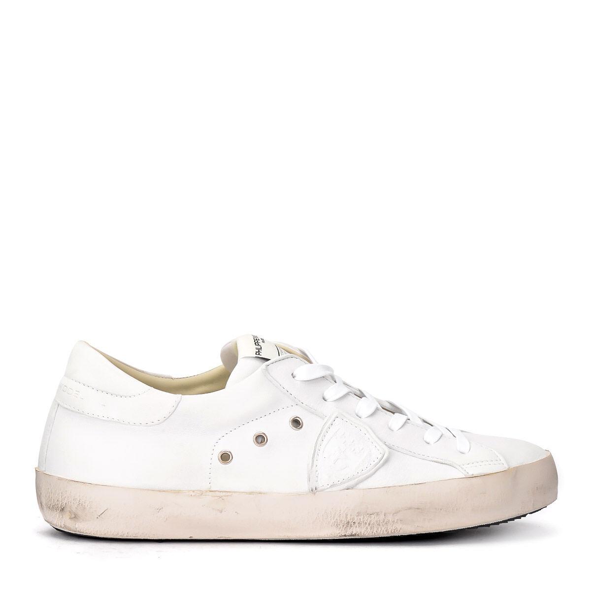 Philippe Model Sneaker Philippe Paris in pelle bianca