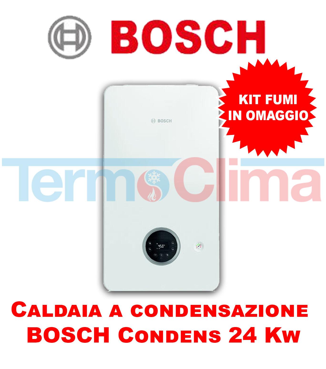 Bosch Caldaia Murale A Condensazione Bosch Condens 2200 W 24 Kw Gc2200w Kit Fumi In Omaggio