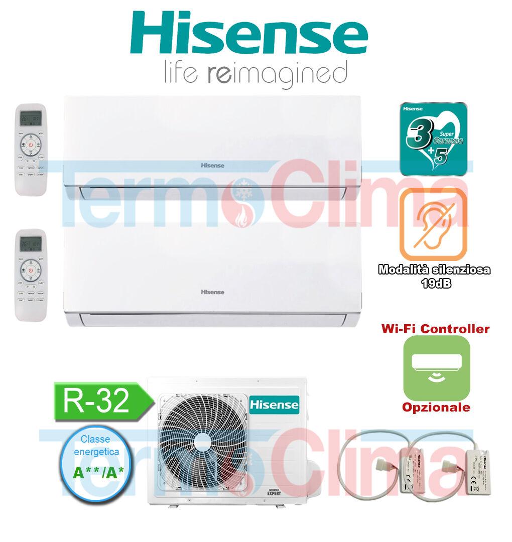 Hisense Climatizzatore Dual Split 912 Mod 2021 New Comfort Dj25ve0ag Dj35ve0ag 2amw42u4rra 900012000 Btuh R32 A A Dualsplit Condizionatore Inverter Wifi Optional