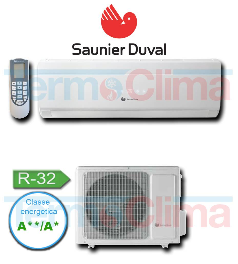 Climatizzatore Condizionatore Mono Split Monsplit Hermann Saunier Duval Inverter A A Vivair Uni Comfort 9000 Btu Sdh19 025 Nw Gas R32 Wifi Optional