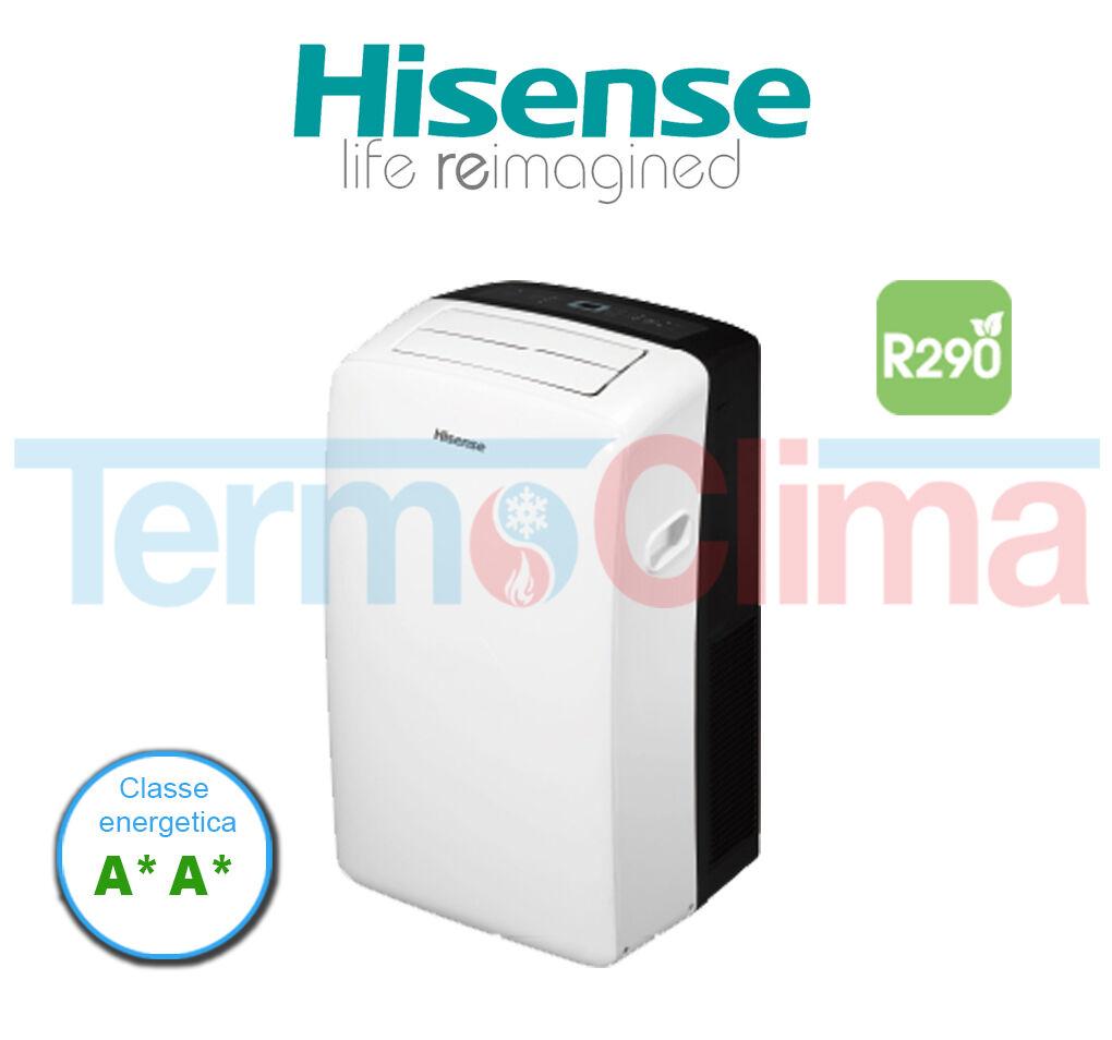hisense climatizzatore condizionatore portatile con pompa di calore 9000 btu modello aph09 a a gas r920