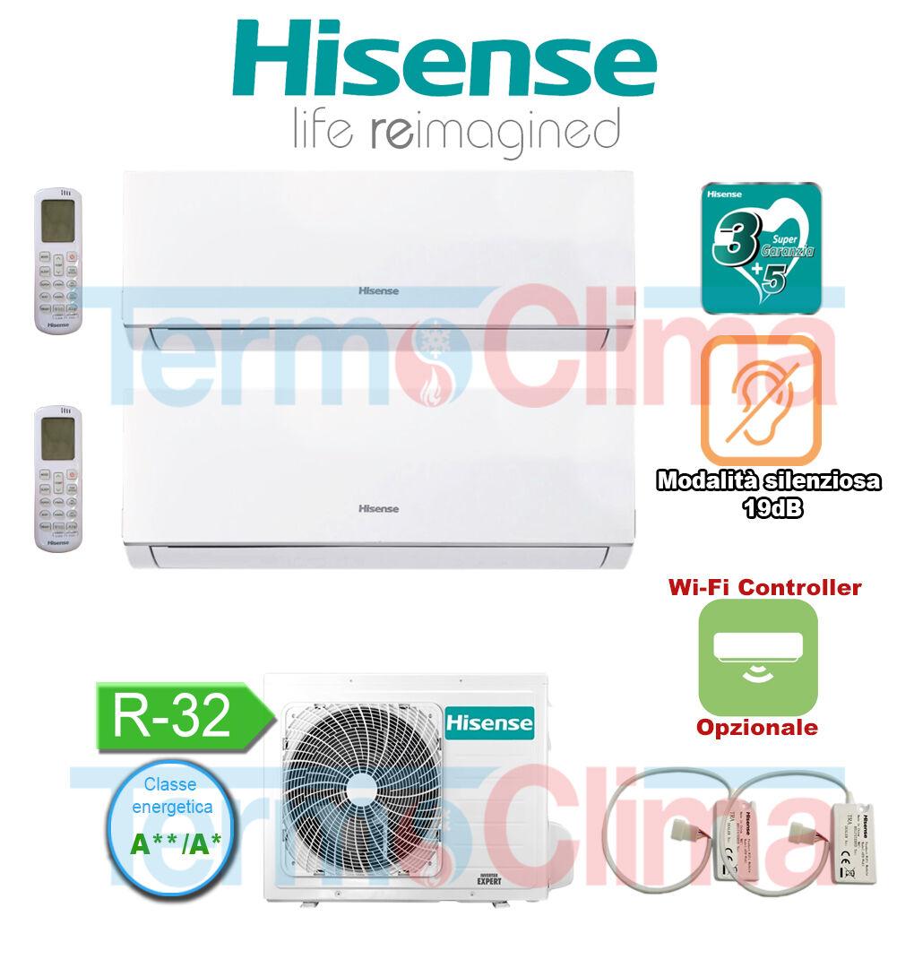 hisense climatizzatore condizionatore inverter new comfort dual split 712 2amw42u4rra new comfort dualsplit dj20yd00g dj35ve0bg 2amw42u4rra 700012000 btuh r32 a a wifi optional