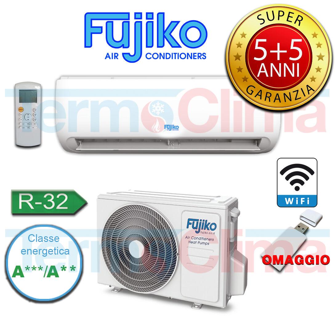Climatizzatore Condizionatore Inverter Mono Split Fujiko Linea Dynamic 9000 Btu 5 Anni 5 Di Garanzia Gas R32 A Wifi In Omaggio