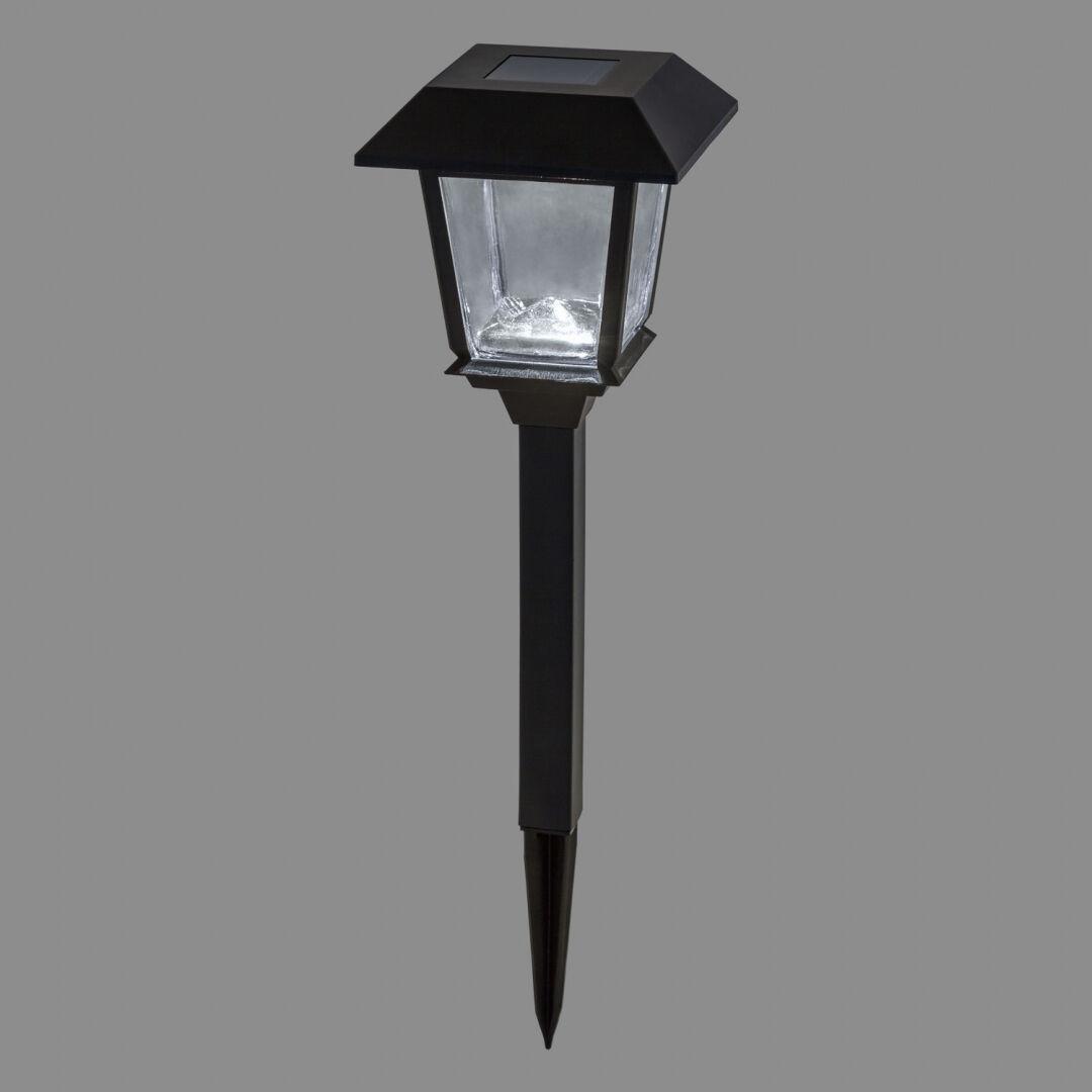 luci da esterno lampioncino da giardino con lanterna a energia solare, led bianco freddo, luce fissa