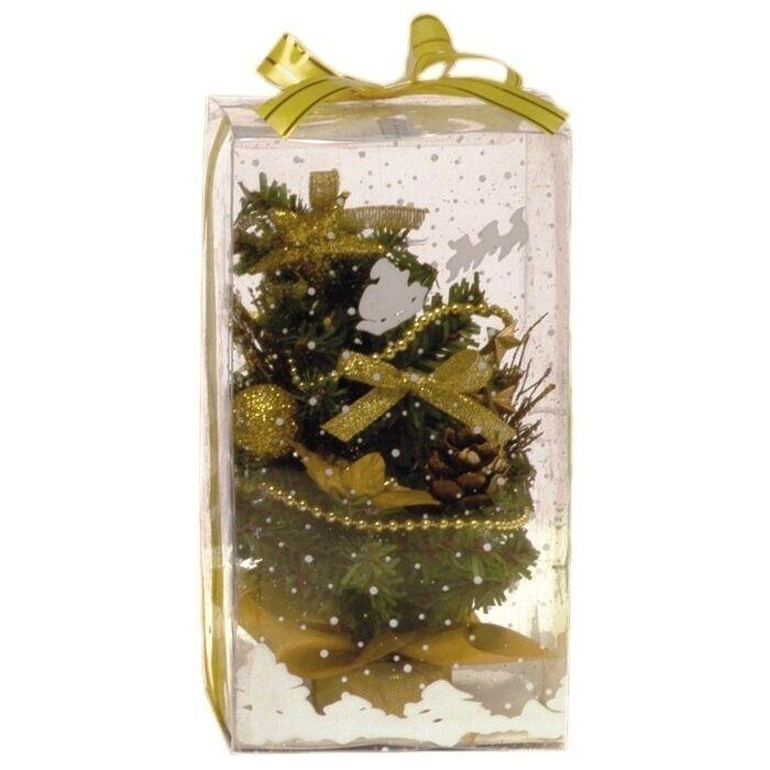 Luci Da Esterno Albero con addobbi h 20 cm colore oro