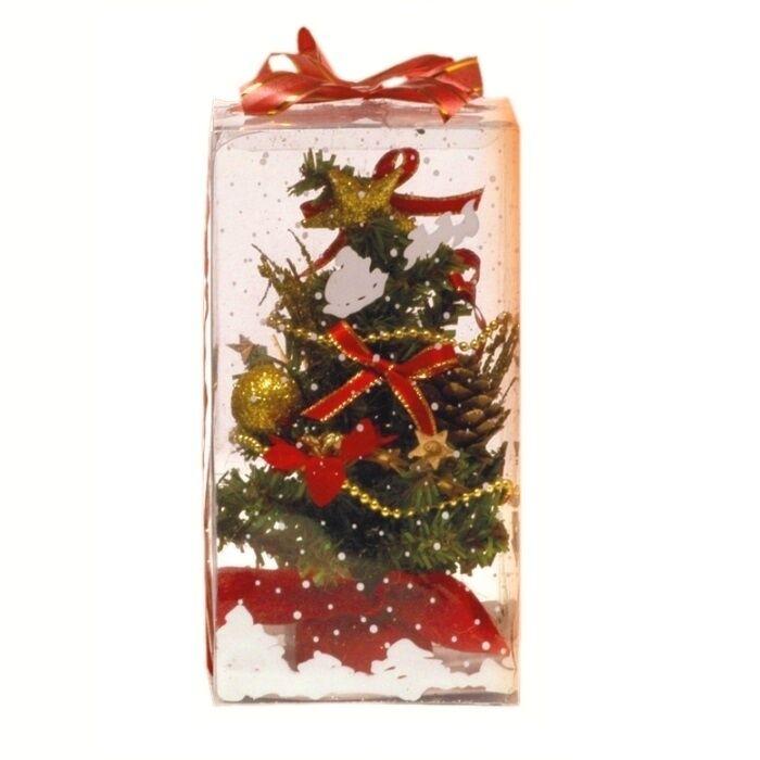 Luci Da Esterno Albero con addobbi h 20 cm colore rosso