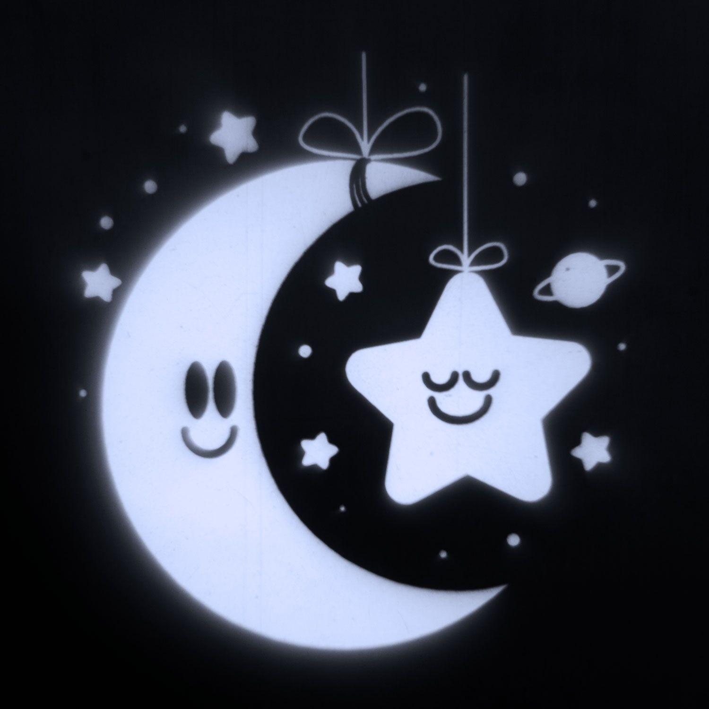 Luci Da Esterno Proiettore notturno per bambini Baby Moon & Star, LED Bianco Freddo