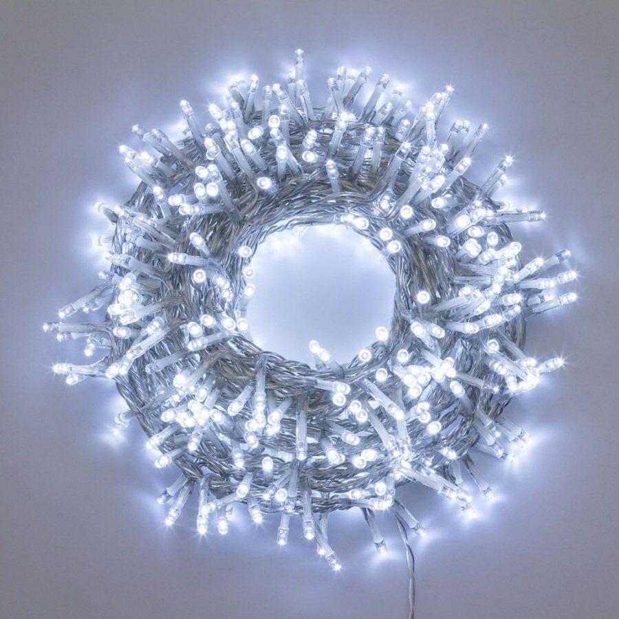 Luci Da Esterno Catena luminosa Nastro di Luce 30,5 m, 1500 LED Bianco freddo, controller con 8 giochi di luce, non prolungabile