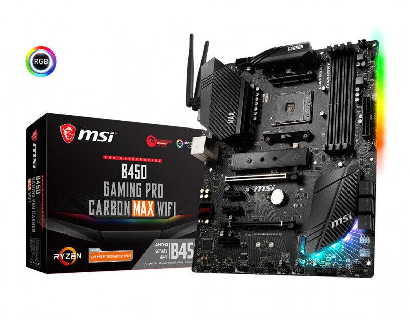 MSI mb  b450 gaming pro crbn max wfi 4d4 6s3 2m.2 4u32 pcie gblan dp/h Componenti Informatica