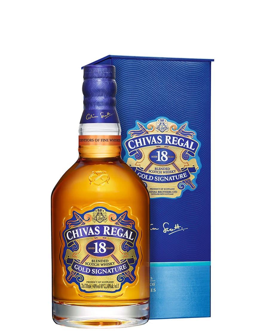 Chivas Regal 18 Year Old Gold Signature Blended Scotch Whisky Chivas Regal 0,7 L, Astucciato