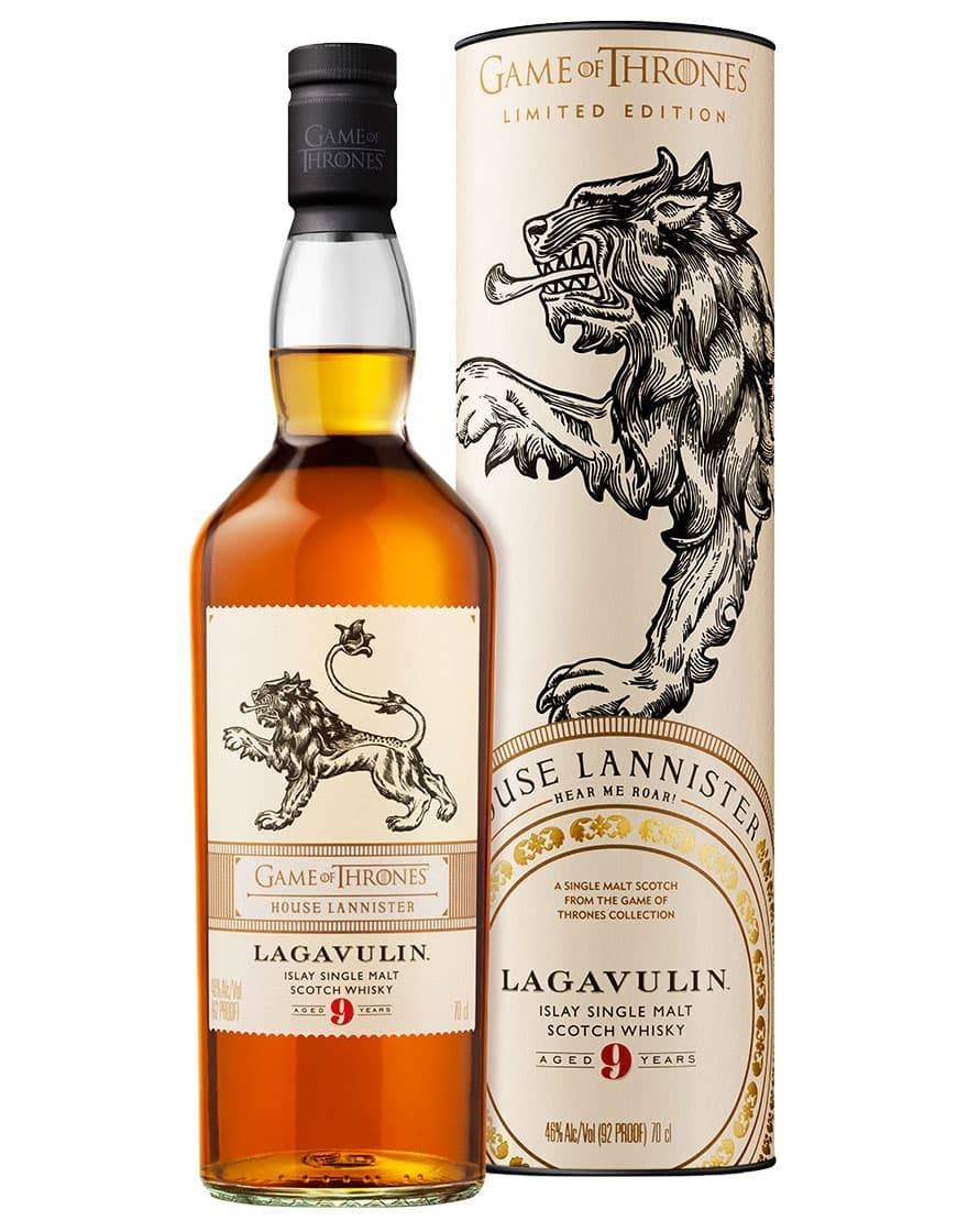 Game of Thrones House Lannister: Lagavulin Aged 9 Years Islay Single Malt Scotch Whisky Game of