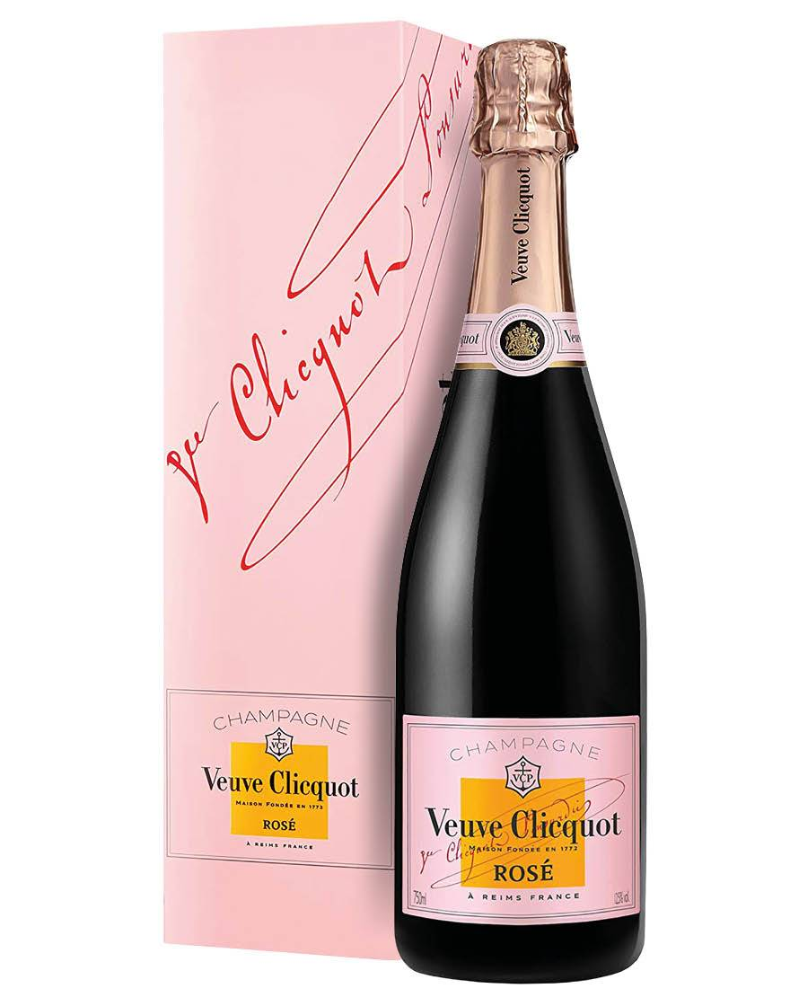Veuve Clicquot Champagne Brut Rosé AOC Veuve Clicquot 0,75 ℓ, Astucciato